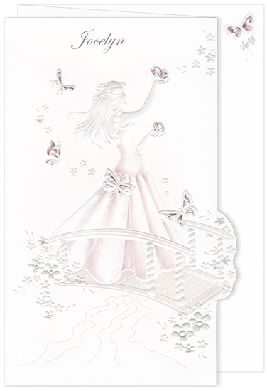 Quinceanera Invitation Butterfly Burgundy (50 Pack)