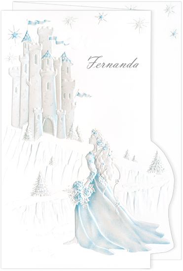 Quinceanera Invitation Castle Dream Aqua (50 Pack)