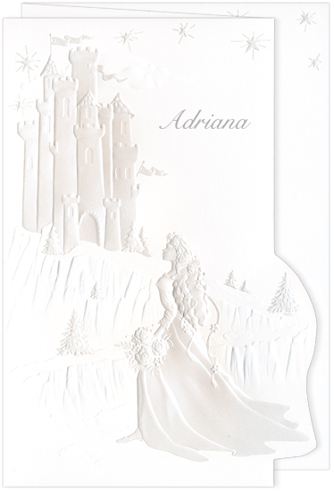 Quinceanera Invitation Castle Dream Pearl (50 Pack)