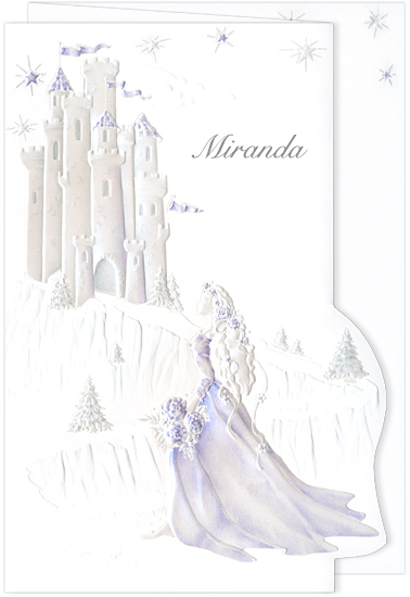 Quinceanera Invitation Castle Dream Purple (50 Pack)