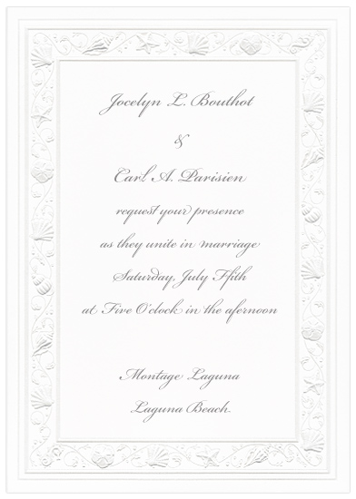 Seashell Wedding Invitation - Pearl (50 Pack)