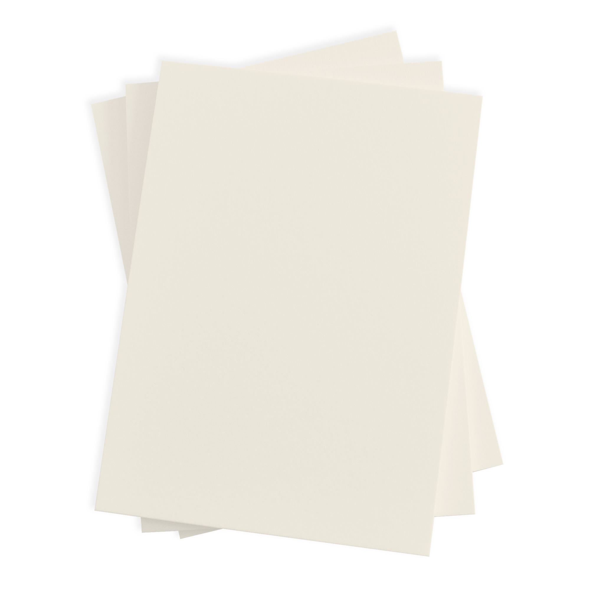 Plain Blank Wedding Invitation - Ecru (50 Pack)