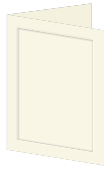 Emboss Wedding Invitation Fold - Ecru (50 Pack)