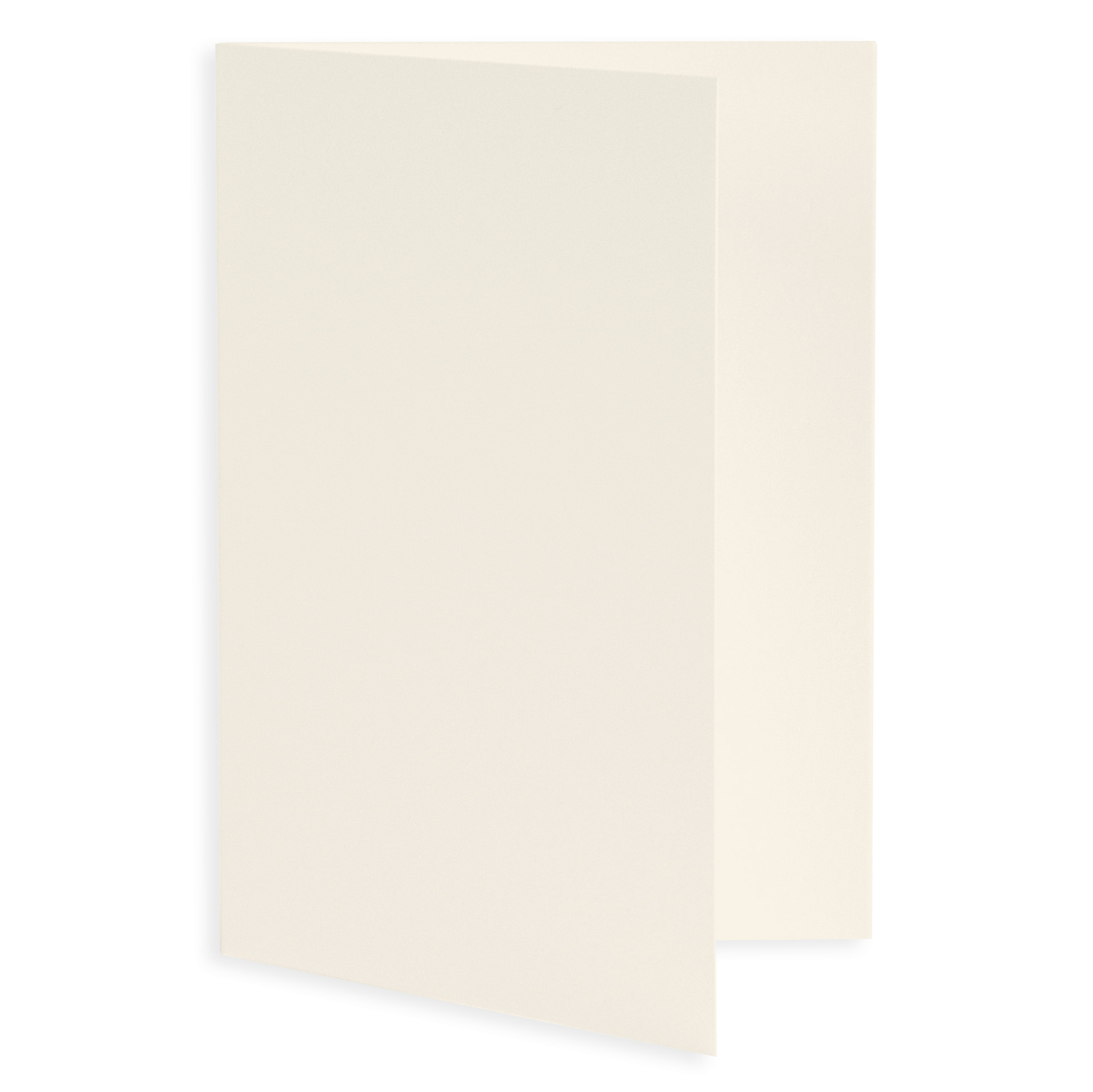 Plain Blank Wedding Invitation Fold - Ecru (50 Pack)