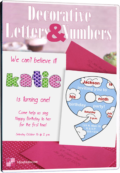 Wedding Invitation Software - Decorative Letters & Numbers (1)