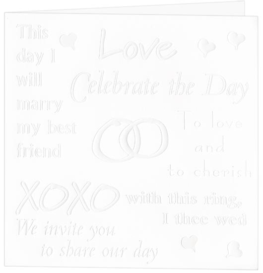Printable Wedding Invitation - Celebrate The Day (50 Pack)