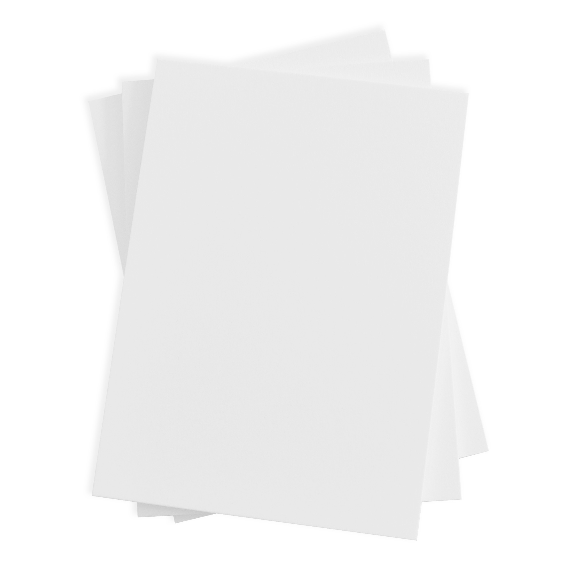 Plain Blank Wedding Invitation - Radiant White (50 Pack)
