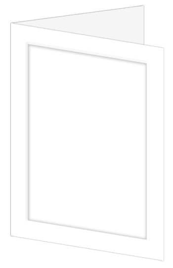 Emboss Wedding Invitation Fold - Radiant White (50 Pack)