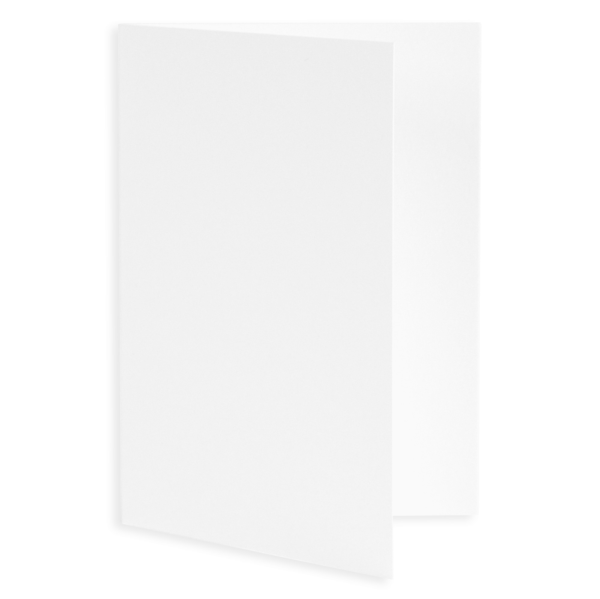 Plain Blank Wedding Invitation Fold - Radiant White (50 Pack)