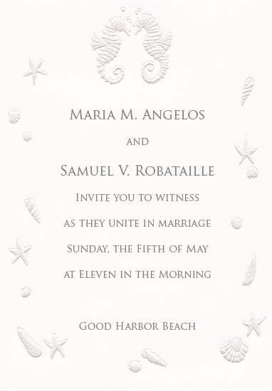 Beach Wedding Invitation - Ocean Romance (50 Pack)
