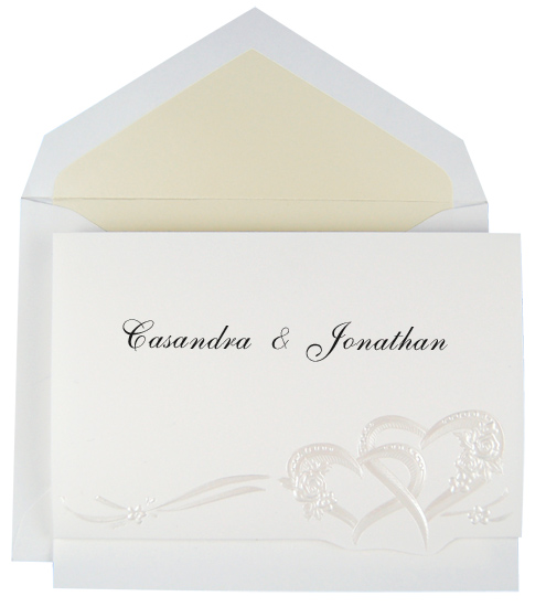 Wedding Invitation Kit - Interlocking Hearts Pearl (50 Pack)