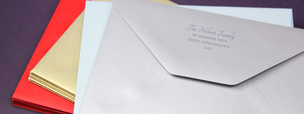 Holiday Envelopes Blank or Printed