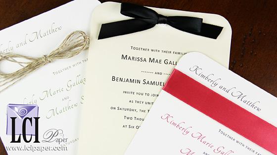 Round Corner Wedding Invitations - Timeless, Modern Style