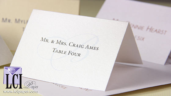 4Up Metallic Place Cards