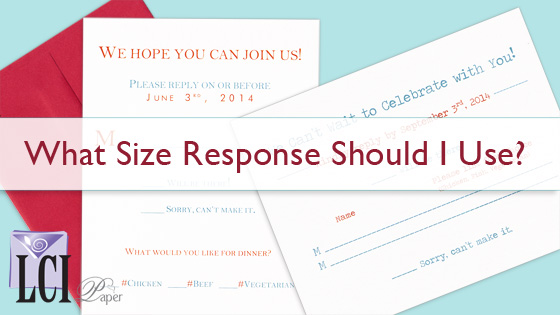 Wedding Response Card Sizes
