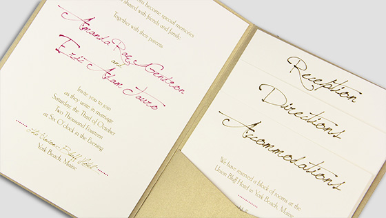 Pocket Invitations Envelopes Cards